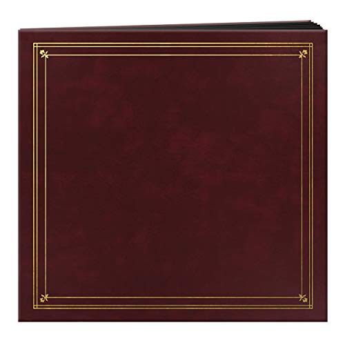 Pioneer Photo Albums 204-Pocket Post Bound Leatherette Cover Photo Album for 4 by 6-Inch Prints, Burgundy