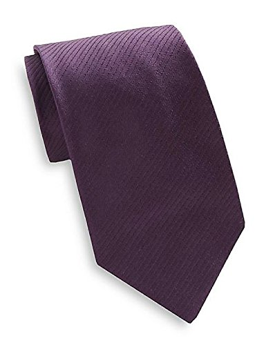 Valentino Mens Tonal Stripe Silk Tie One Size Purple