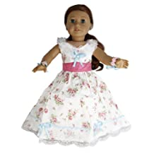 BUYS BY BELLA Colonial Gown with Train for 18 Inch Dolls Like American Girl