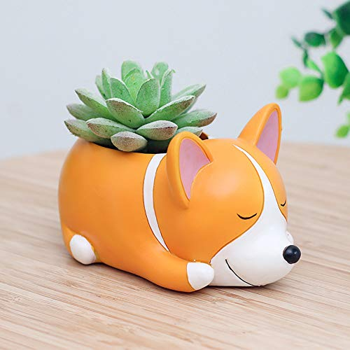 Tpingfe Cute Cartoon Animal Container for Home Garden Office Desktop Decoration (E) from Tpingfe