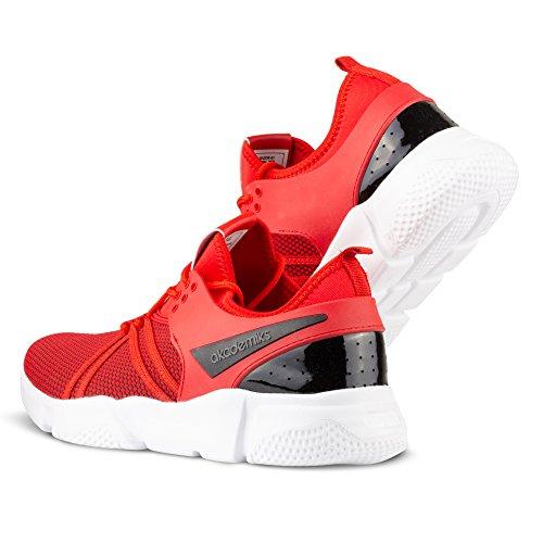 Akademiks Red Knit Tubular Men's Sneakers Fashion rqzSrx6wH
