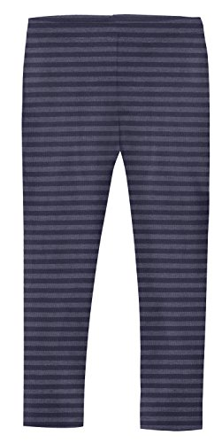 City Threads Girls' Leggings Cotton/Poly Blend for School or Play Perfect for Sensitive Skin or SPD Sensory Friendly Clothing, Stripe Navy, 4T