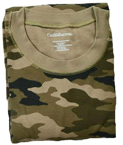 (Croft & Barrow Camouflage Long Sleeve Thermal Crew Shirt -)