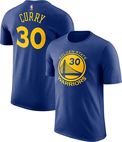 (Outerstuff NBA Youth Performance Game Time Team Color Player Name and Number Jersey T-Shirt (Stephen Curry Golden State Warriors Blue, Medium 10/12))