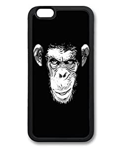Case Cover For HTC One M7 Cute Fancy Monkey Black Pattern Hard Back iP6pO5Kz3HE Cover Fit for iphone6