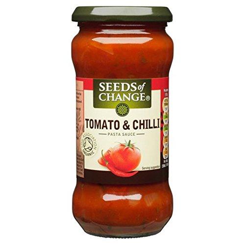 Semillas de cambio de tomate y los chiles Pasta 350g Salsa