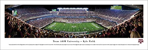 (Texas A&M Football - 50 Yard - Blakeway Panoramas Unframed College Sports Posters)