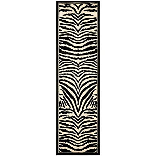 (1pc Girls White Black Zebra Stripes Runner Rug, 2'3Ft X 6Ft, Hallway Flooring African Themed Pattern Zoo, Long Narrow Skinny, Wild Animal Safari Entraceway Rug, Jungle)