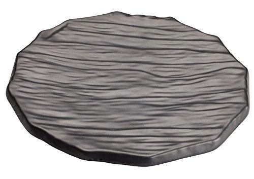 Winco wdm019 – 301、11 – 1 /2 ″ Dia Ardesia Kaori Round Hammered Platterアペタイザー、Servingトレイ、プレート、ブラック、12 /CS   B07CR6P29C