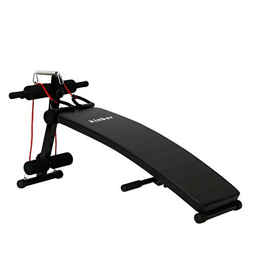 Peach Tree Sit Up Bench Adjustable Workout Ab Abdominal Exercise Bench Board for Men Women by Peachtree Press Inc