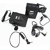 2.4 GHz Wireless Lavalier Microphone DSLR, BOYA BY-WM24G Wireless Interview System with Real-time Monitor for Canon 6D Nikon Camera Sony Panasonic Camcorders DV Recorder Youtube Video Vlog Facebook