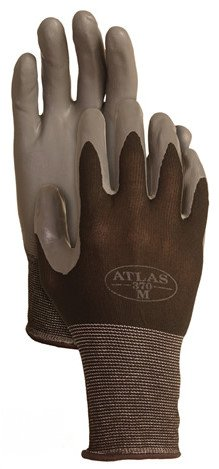 (4 Pack Showa Atlas 370BLK Atlas Nitrile Tough Gloves - Small)