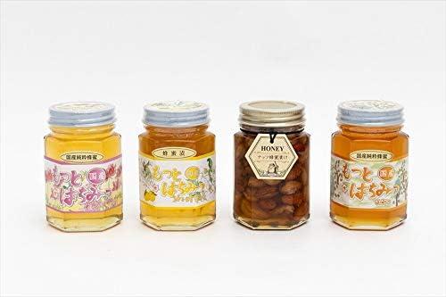 【国産純粋ハチミツ・養蜂園直送】れんげ蜂蜜 山蜂蜜 柚子蜂蜜漬 各180g ナッツ蜂蜜漬 160g