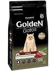 Ração Golden para Gatos Adultos Castrados Sabor Carne - 1kg Premier Pet para Todas Todos os tamanhos de raça Adulto - Sabor Carne
