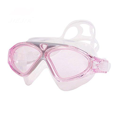 Impermeable Gafas Unisex De Gafas HD Natación pink De QY Marco Espejo Plano Antivaho Grande Natación Acogedor Pale w68pSpPq