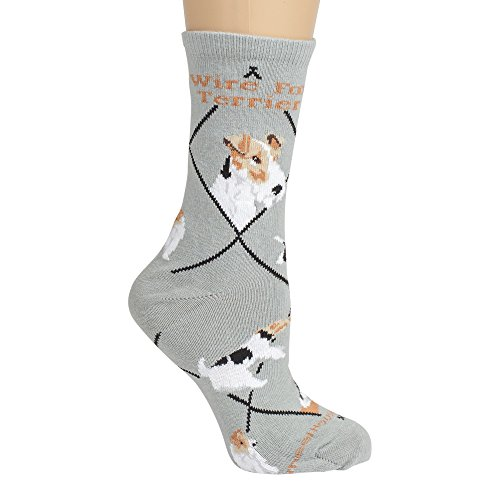 Wire Fox Terrier Cotton Puppy Dog Breed Animal Socks 9-11 by Wheel House Designs (Image #2)