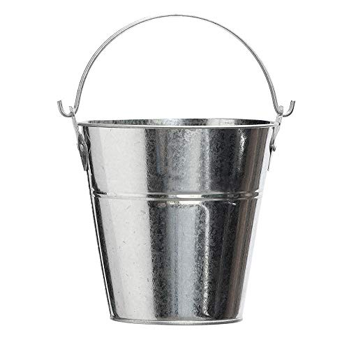 Steel Grease Bucket for Grill/Smoker - Traeger, Pit Boss Grills - Metal Pail with Handle - 2 Quarts