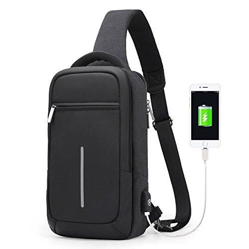 Messenger Sling - XINCADA Sling Bag Messenger Bag Chest Pack Crossbody Shoulder Bags Small Shoulder Backpack
