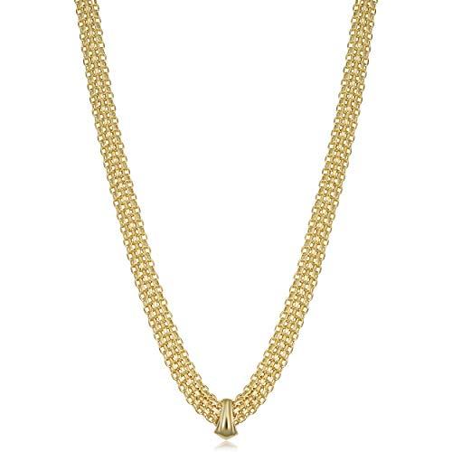 Kooljewelry 14k Yellow Gold Bismark Necklace (20 inch)