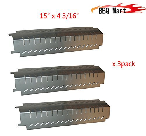 94011(3-pack) Stainless Steel Heat Plate Replacement for Charbroil, Costco , Centro and Thermos Grills