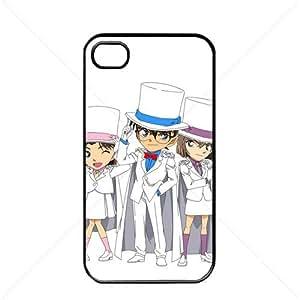 Detective Conan Manga Anime Comic Apple iPhone 4 / 4s TPU Soft Black or White case (Black)