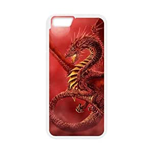 """ALICASE Diy Hard Shell Cover Case Of Red Dragon for iPhone 6 Plus (5.5"""") [Pattern-1]"""