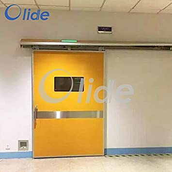 Puerta de hospital automática/puerta de funcionamiento para una sola hoja puerta corredera Set completo con puerta cuerpo: Amazon.es: Bricolaje y herramientas