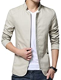 XueYin Men's Cotton Lightweight Slim Fit Jacket Casual Wear