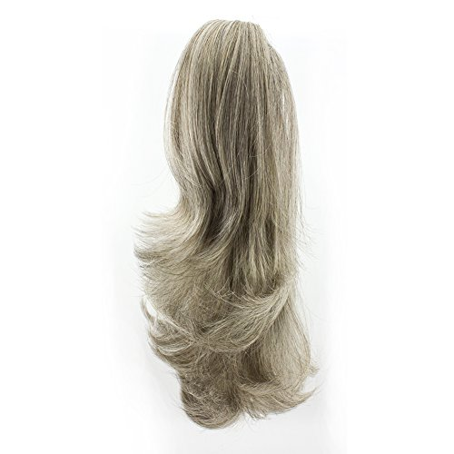 Merrylight Long Curly Hairpiece Claw Ponytail Big Wave Ponytail Hair Extensions (Grey White-M3/60) - Banana Curls Costumes Wig