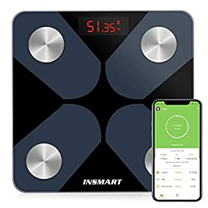 Bluetooth Body Fat Scales, INSMART Smart Digital Bathroom Weight Weighing Scales for Body Composition Analyzer with… 48