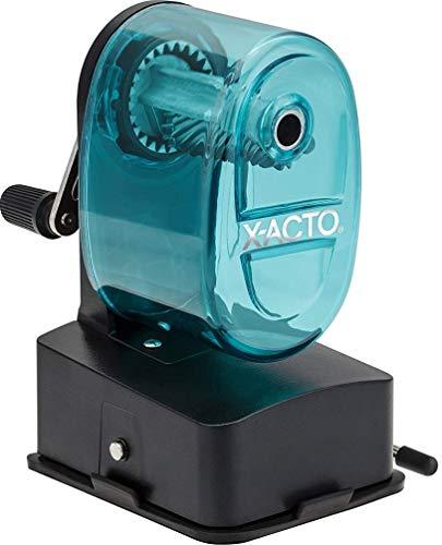 X-ACTO Vacuum Mount Manual Pencil Sharpener - Blue Bostitch Manual Pencil Sharpener