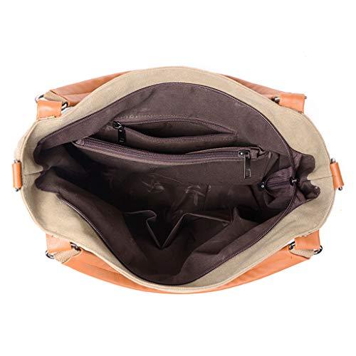 Clip Viajes Bag Deporte Mini Bandolera Trabajo Pequeño Lona Con Hombre Mensajero Messenger Raya Hombro Mosquetón De Hengwin Casual Ipad Bolso Para Bolsos A Marrón Txp6Tw