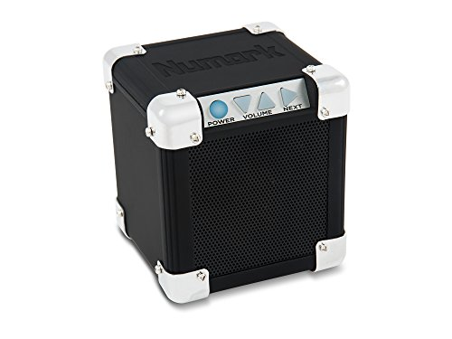 Numark Rock Block | Palm-Sized Wireless Portable Speaker System with Bluetooth Connectivity & Aux (Numark Compact)