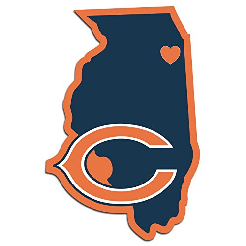 NFL Chicago Bears Home State Decal, 5