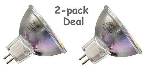 2-Pack Deal 24V 250W ELC-5 Replacement Bulb for Bell and Howell Autoload 2580 2580A 2582A 2585A 2585B 2592A 2592B 3592 Filmosound 3592 3885 1680G 1692B 1693B 1695B 1698B 2585AX 2585AXU TQ3 Specialist (24v 250w Replacement Lamp)