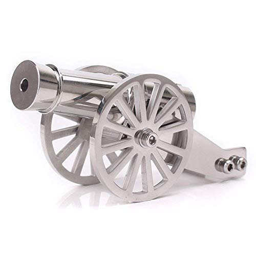 Lymhy Napoleon Stainless Steel Pocket Artillery Mini Cannon Military Model for Men's Collection