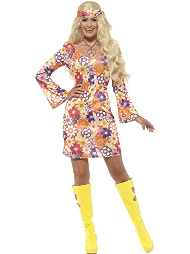 Flower Hippie Girl Adult / Plus (1960 Fancy Dress Costumes)