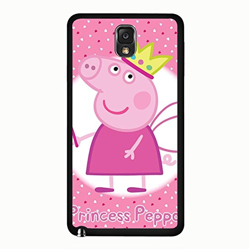 Eye-Catching Crown Cartoon Peppa Pig Phone Case Cover for Samsung Galaxy Note 3 N9005 Peppa Pig Stylish