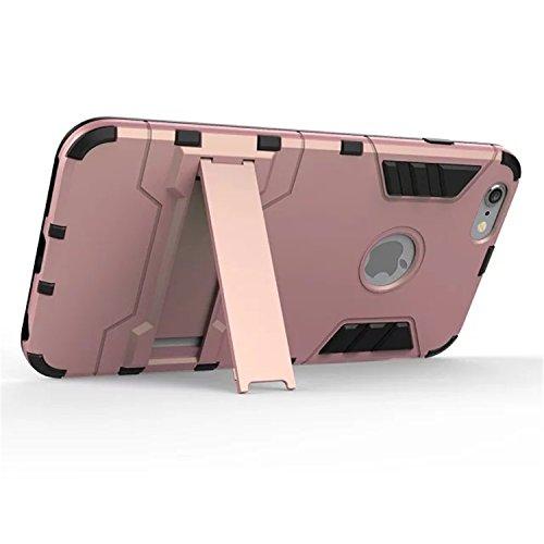 iPhone 6 Plus Case, LIYINGKEJI Anti-rayures Drop Protection Ultra mince Slim Fit Double épaisseur Armure lourde Hybride Hard PC + Soft TPU Housse de protection pour Apple iPhone 6 Plus - Rose