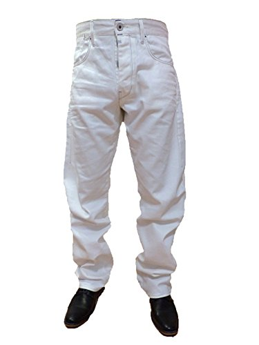 G-STAR JEANS STRUCTOR STRAIGHT FORMAT WHITE DENIM Gr W 36 L 34