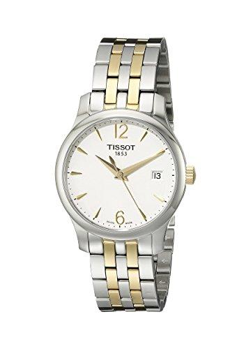 Tissot Two Tone Bracelet - Tissot Women's T0632102203700 Tradition Analog Display Swiss Quartz Two Tone Watch