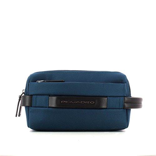 Piquadro Move 2 Beauty Case da Viaggio, Sintetico, Blu, 24 cm