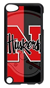 Apple New iPod Touch (5th) Case Cover Protector with NCAA Nebraska Cornhuskers American Football Style