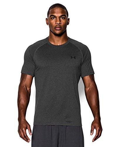 Under Armour Men's Tech Short Sleeve T-Shirt, Carbon Heather/Black, Medium