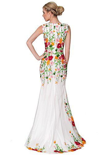 SEXYHER Charme MultiColor Tulle V Neck Fish Tail couverte longue de demoiselle d'honneur robe de soir¨¦e - EDYP8020