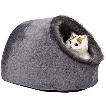 Amazon.com : VERTAST Cat Small Dog Cosy Bed Pets Igloo Bed