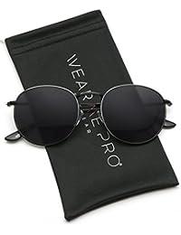 Reflective Lens Round Trendy Sunglasses