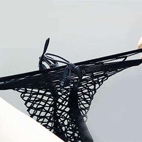 25 x 30 cm f/ür Kleinteile Gep/äcknetz mit Haken in der Mitte elastisch schwarz