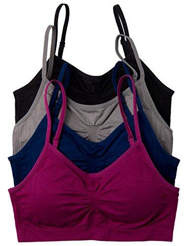 (4 Pack Kalon Comfort Bras (One Size S/M,)