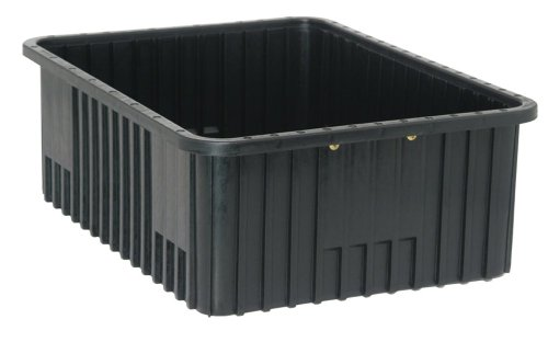 Quantum Storage Systems DG93080CO Dividable Grid Container 22-1/2-Inch Long by 17-1/2-Inch Wide by 8-Inch High, Black Conductive, 3-Pack ()